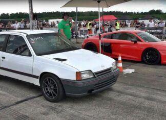 Stary Opel Kadett szybszy od Audi RS6. Ile ma KM pod maską?