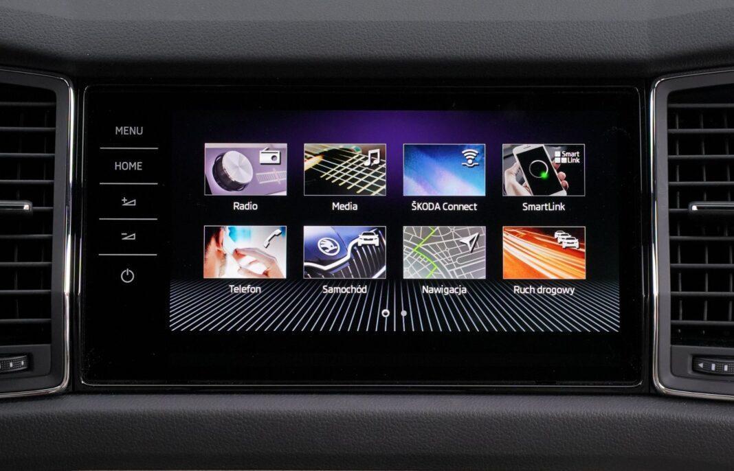 skoda kodiaq 1.5 tsi dsg test 2020 - system multimedialny
