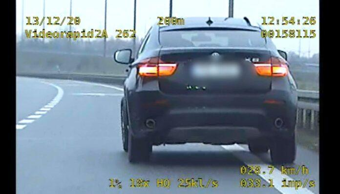 Odkręcone koło w BMW X6