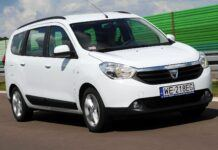 DACIA Lodgy I Prestige 1.5dCi 109KM 6MT WE218EG 08-2012