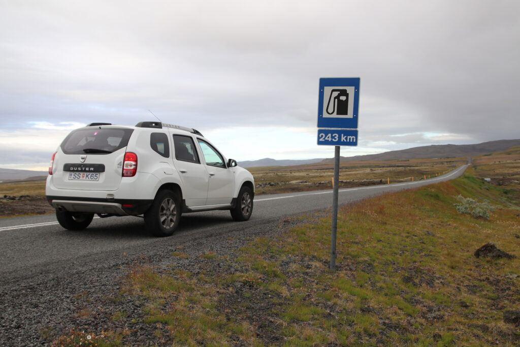 Islandia - stacje paliw co ile kilometrów