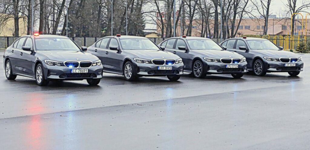 Nieoznakowane policyjne BMW