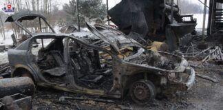Spalony Opel