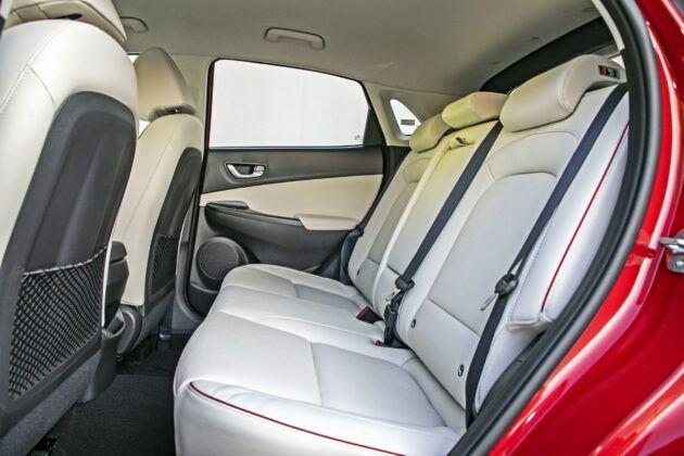 Hyundai Kona - tylna kanapa