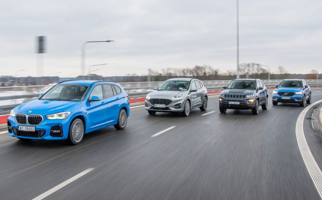 BMW X1, Ford Kuga, Jeep Compass, Volvo XC40