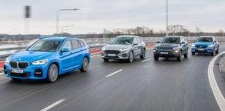 BMW X1, Ford Kuga, Jeep Compass, Volvo XC40