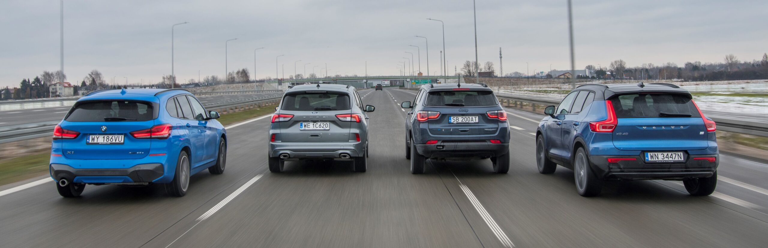 BMW X1 xDrive25e, Ford Kuga 2.5 Plug-In Hybrid, Jeep Compass PHEV 4xe, Volvo XC40 Recharge T5