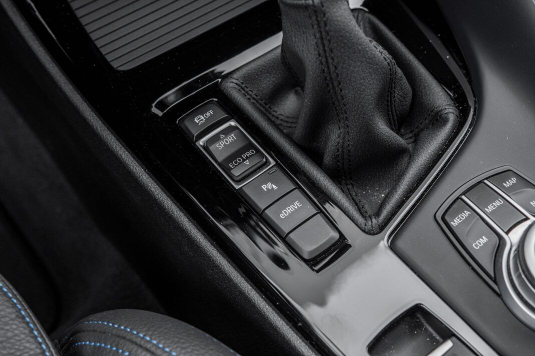 BMW X1 - wybór trybu jazdy