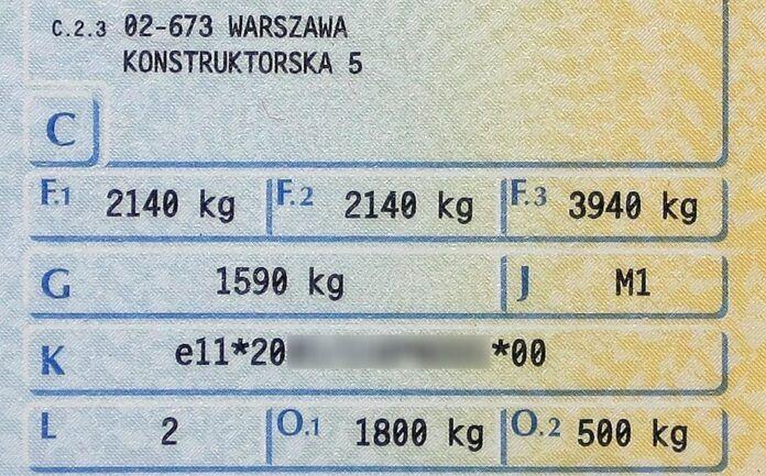 Dowód rejestracyjny (2)
