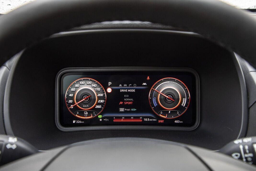 Hyundai Kona Electric - test (2021) - cyfrowe zegary