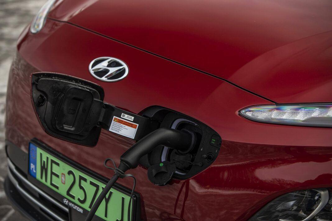 Hyundai Kona Electric - test (2021) - gniazdo ładowania