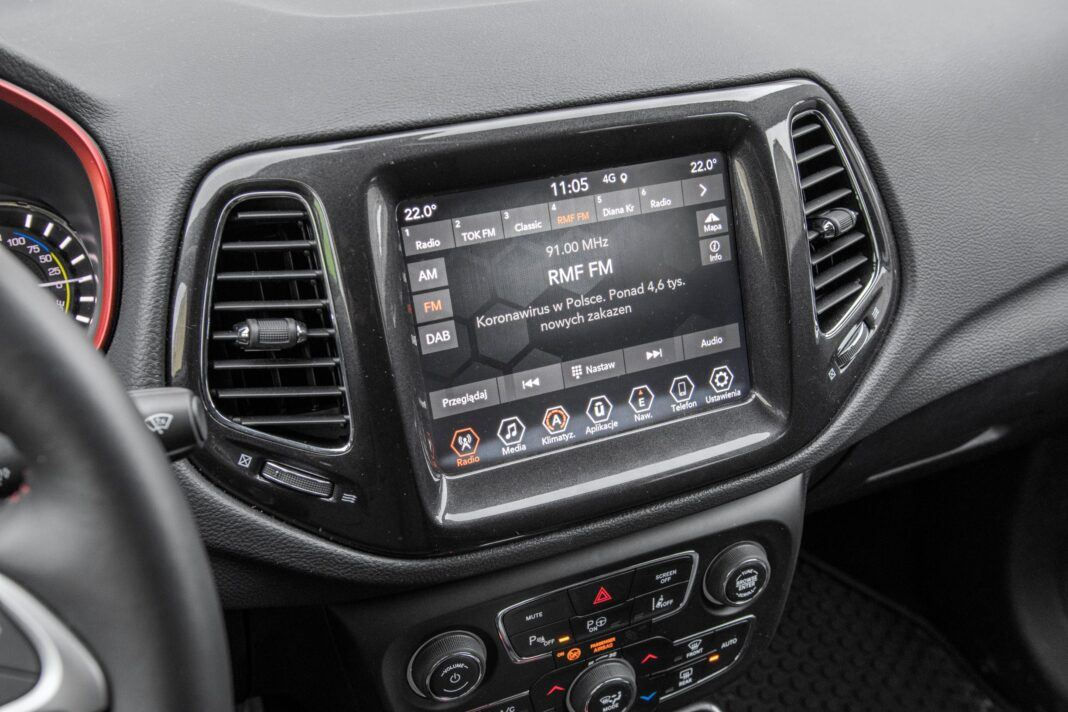 Jeep Compass - ekran