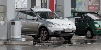 Mandat za nieodśnieżony samochód