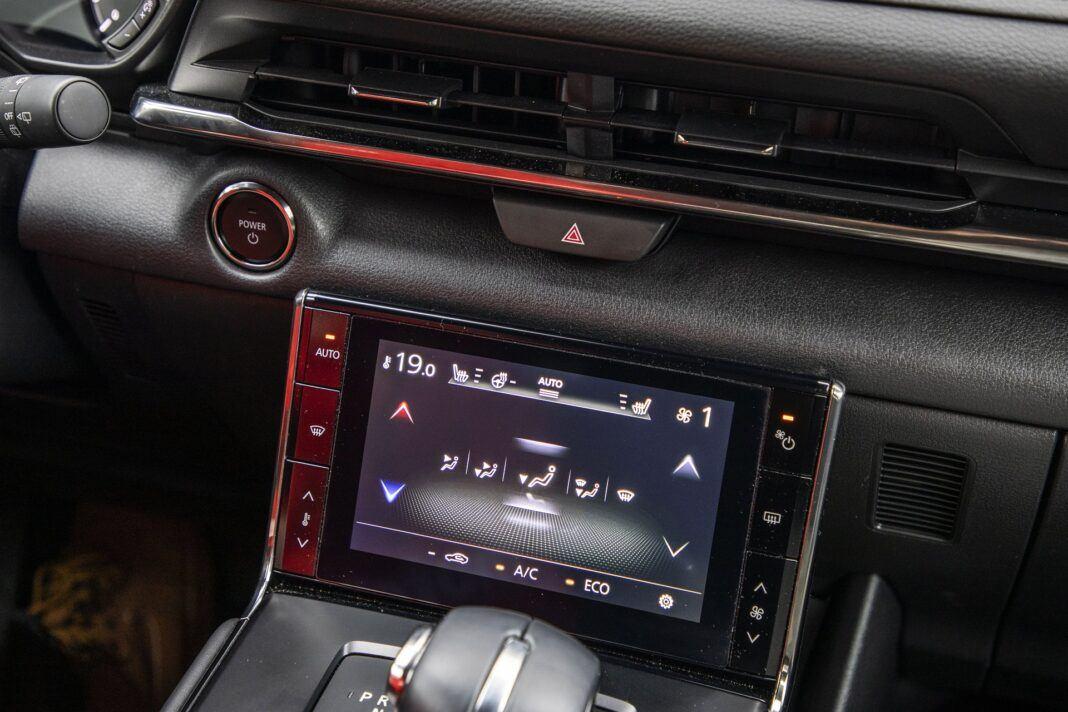 Mazda MX-30 - test (2021) - ekran wentylacji