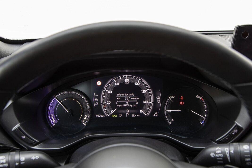 Mazda MX-30 - test (2021) - zegary