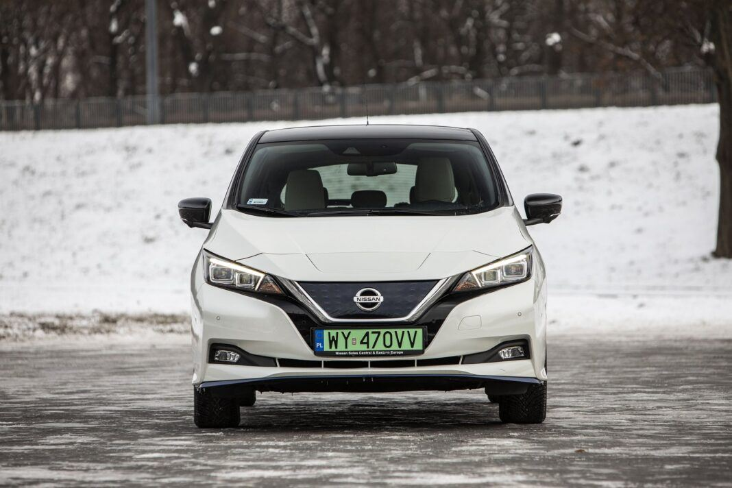 Nissan Leaf 62 kWh - test (2021) - przód