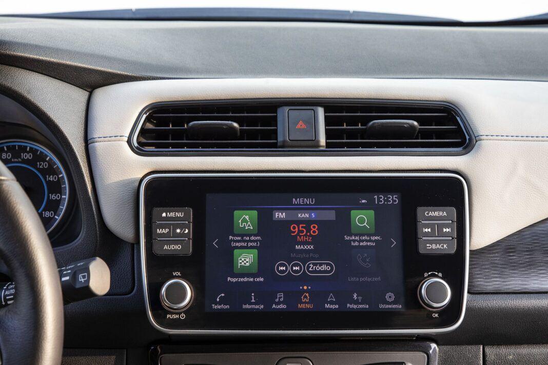 Nissan Leaf 62 kWh - test (2021) - system multimedialny