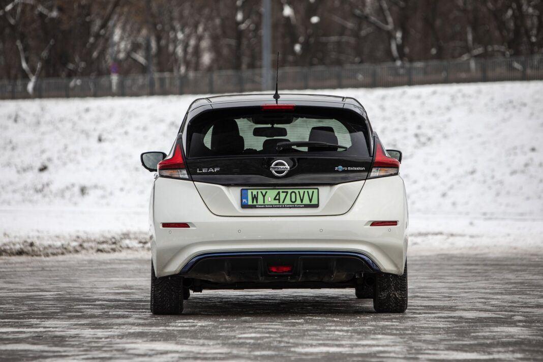Nissan Leaf 62 kWh - test (2021) - tył