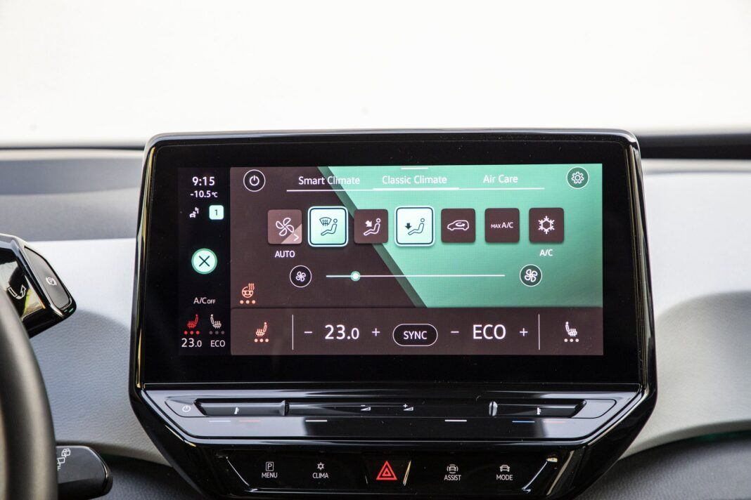Volkswagen ID.3 Pro Performance (58 kWh) – test (2021) – obsługa wentylacji