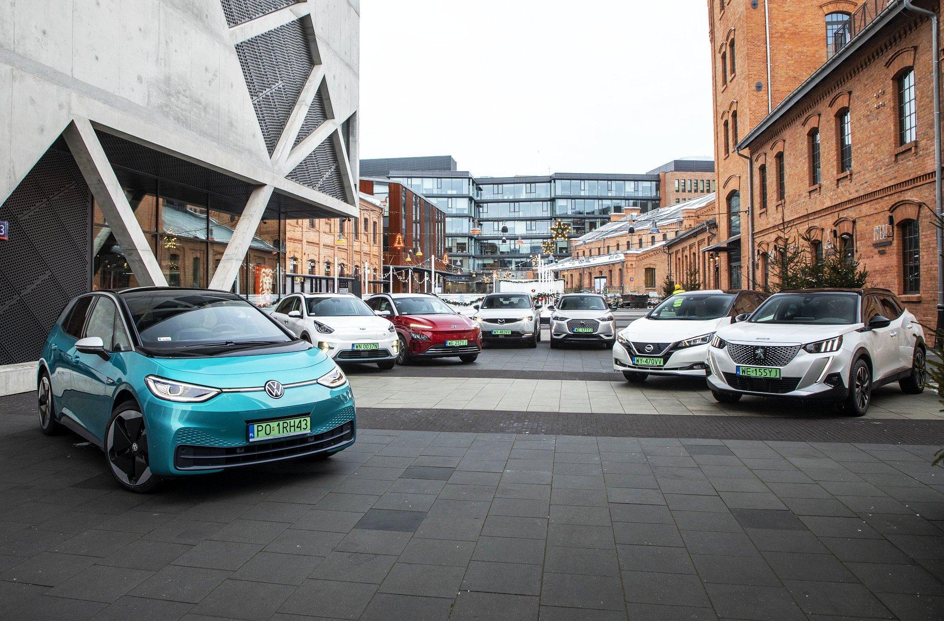 samochody elektryczne test porównanie 2021 vw id.3 hyundai kona electric nissan leaf ds 3 crossback kia e-niro mazda mx-30 peugeot e-2008 03