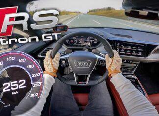 256 km/h w absolutnej ciszy. Audi RS e-tron GT na autostradzie