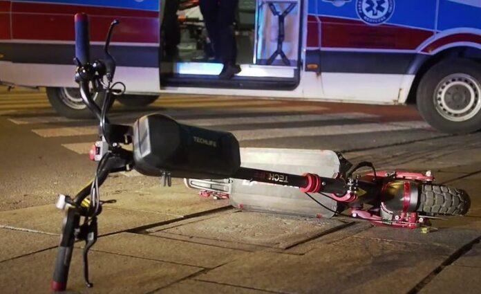 hulajnoga Policja Jaworzno wypadek