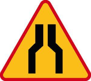 Znak ostrzegawczy A-12a