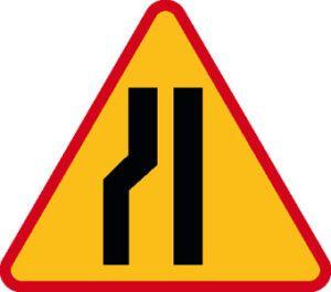 Znak ostrzegawczy A-12c