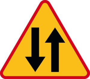 Znak ostrzegawczy A-20