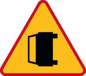 Znak ostrzegawczy A-34