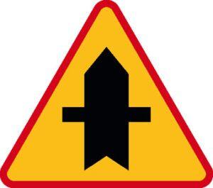 Znak ostrzegawczy A-6a