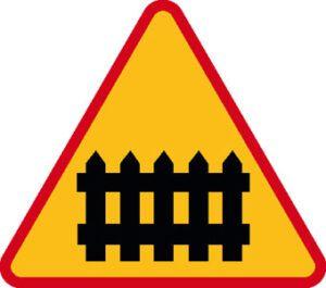 Znak ostrzegawczy A-9
