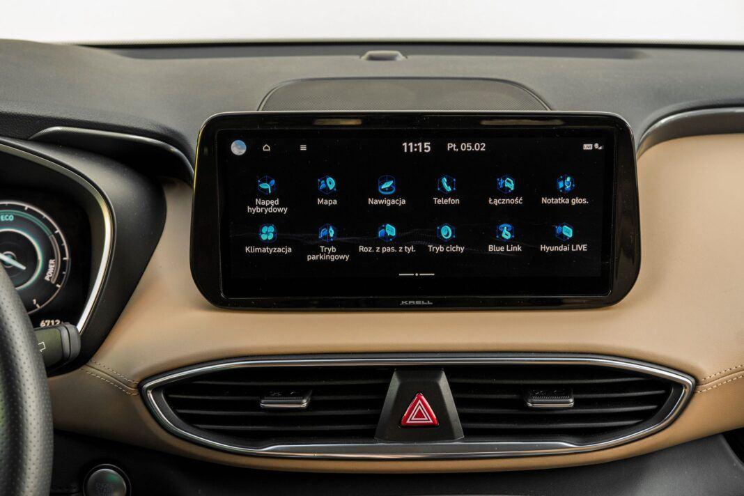 Hyundai Santa Fe - menu ekranu