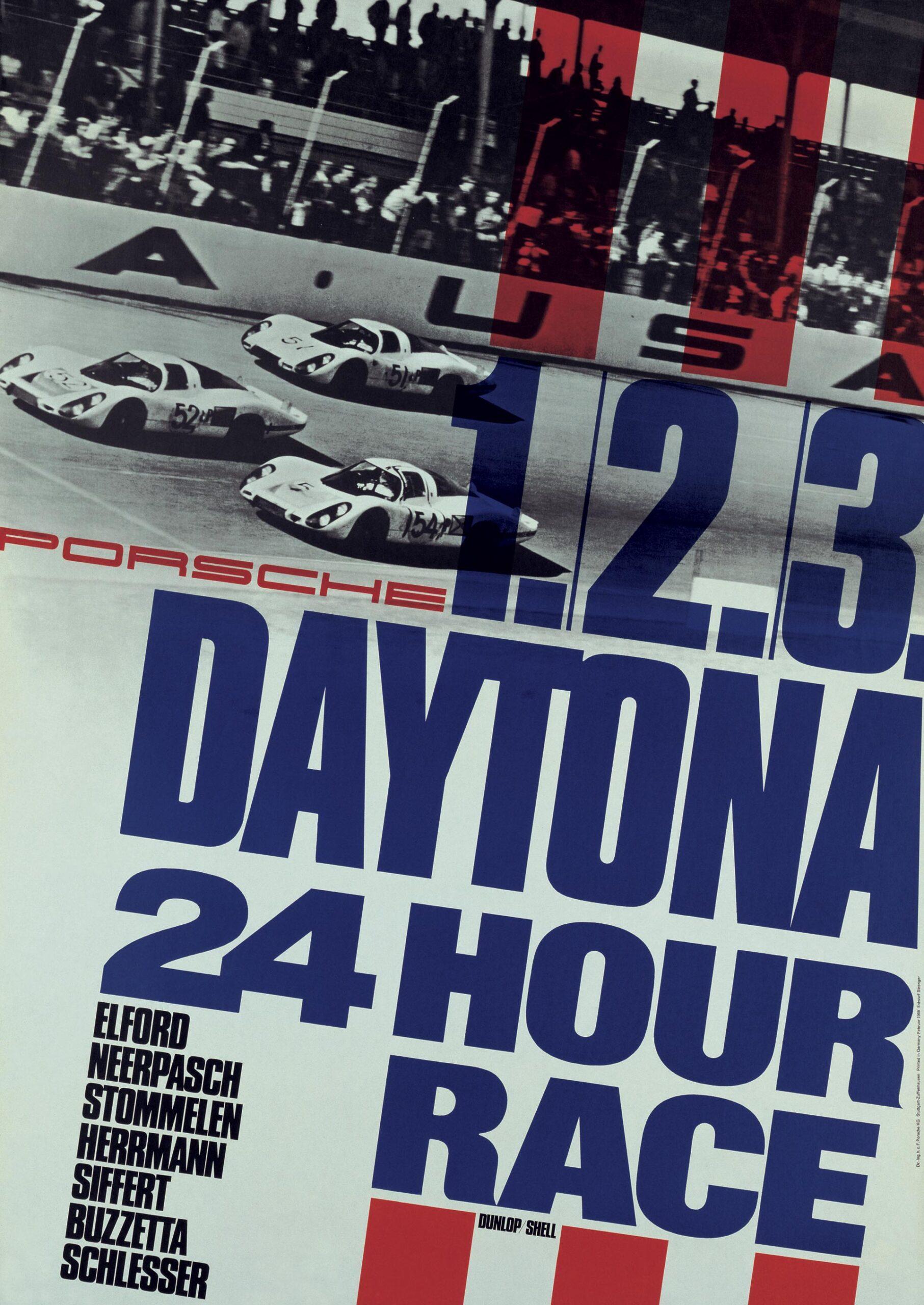 Plakat Porsche Daytona24 1968