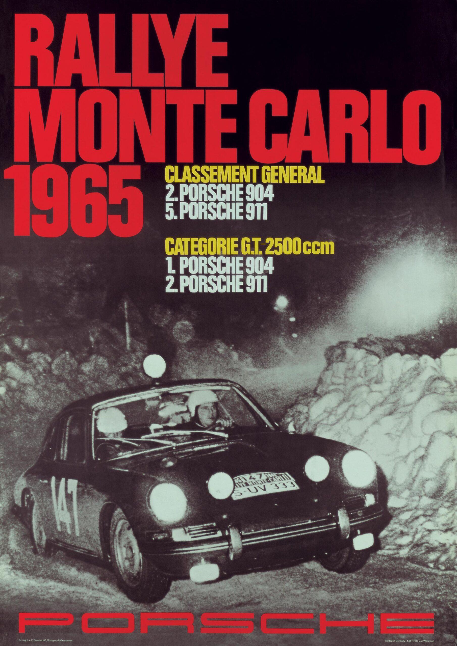 Plakat Porsche Monte Carlo 1965