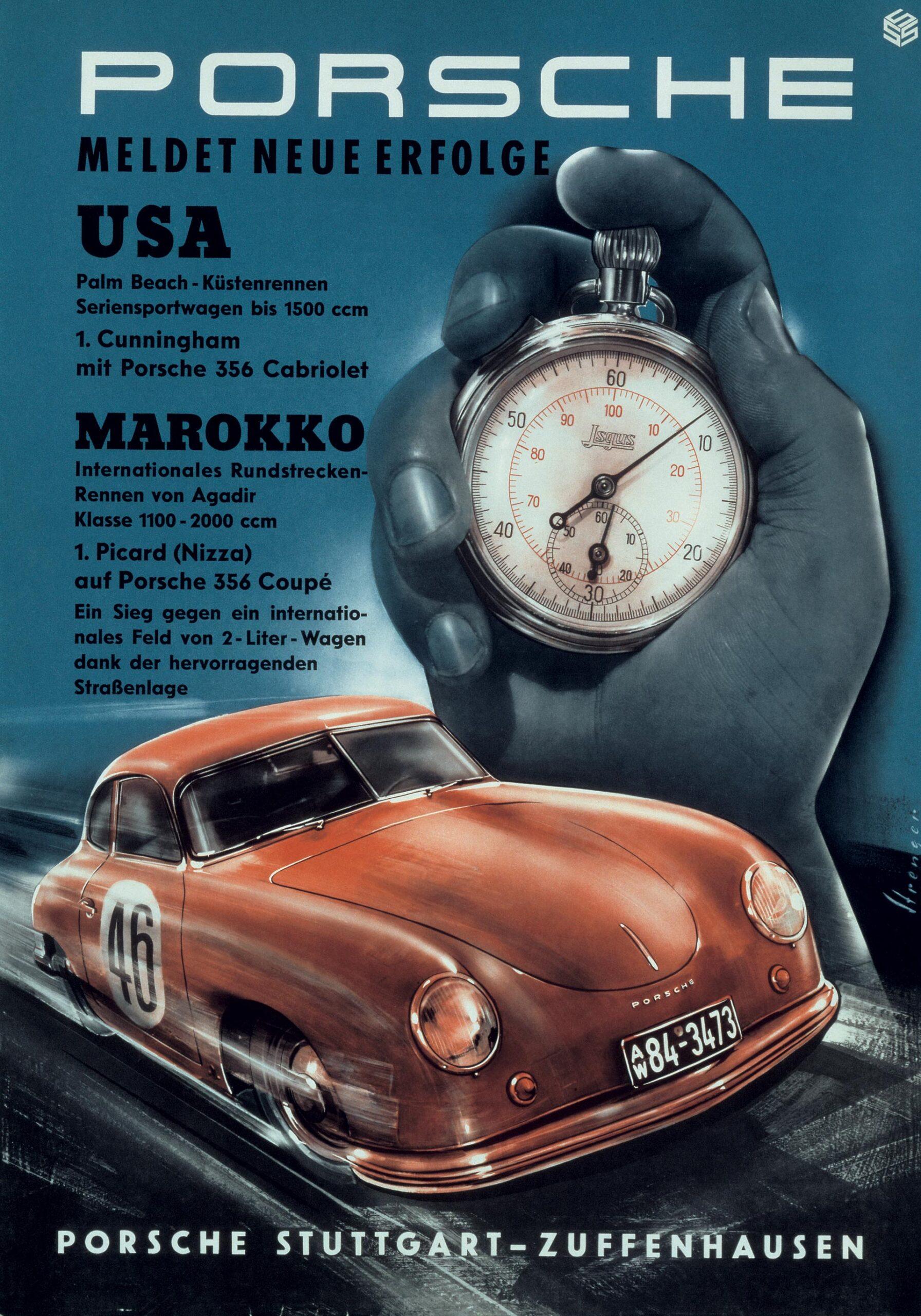 Plakat Porsche 356 Cabriolet