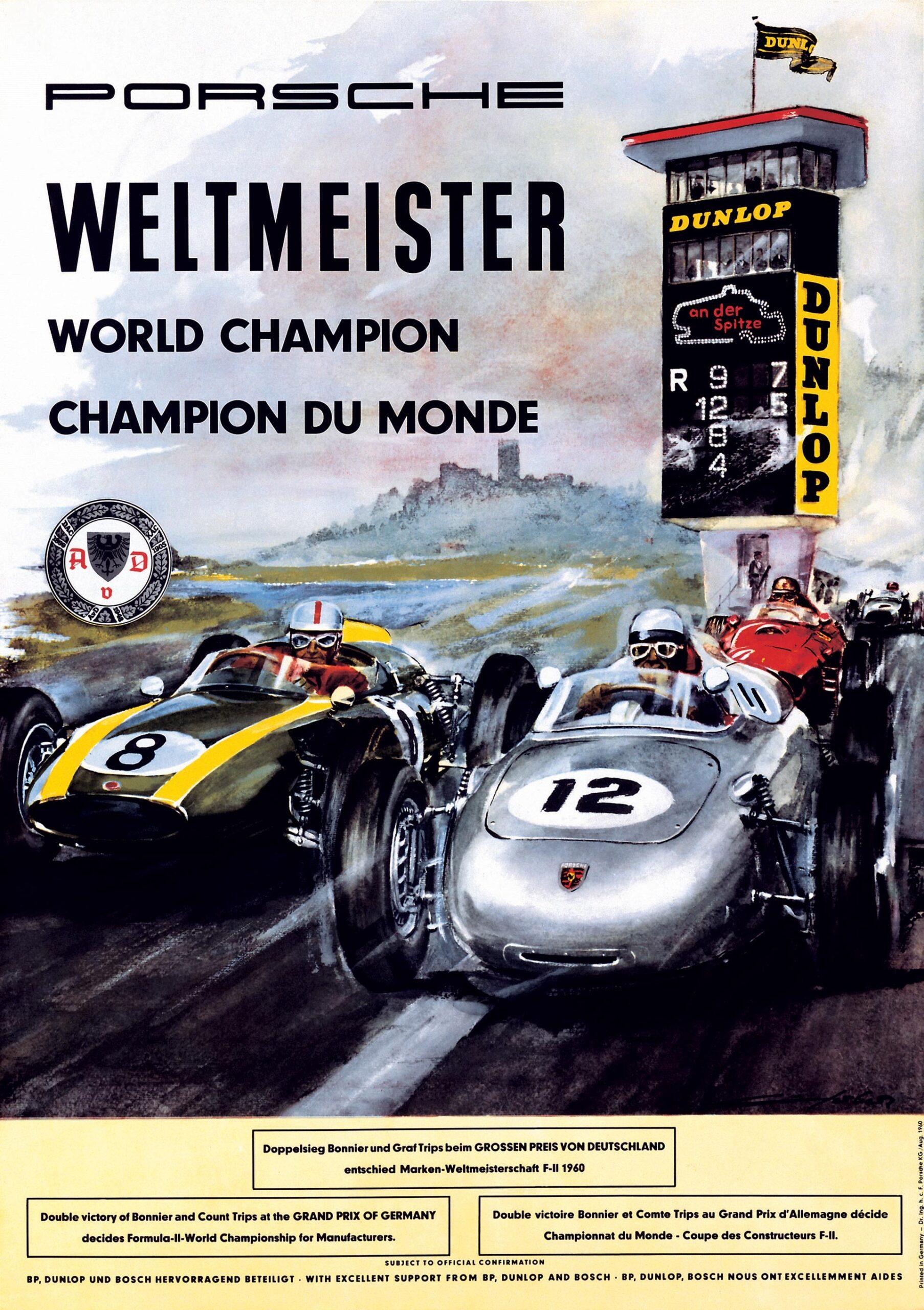 Plakat Porsche Weltmeister 1960