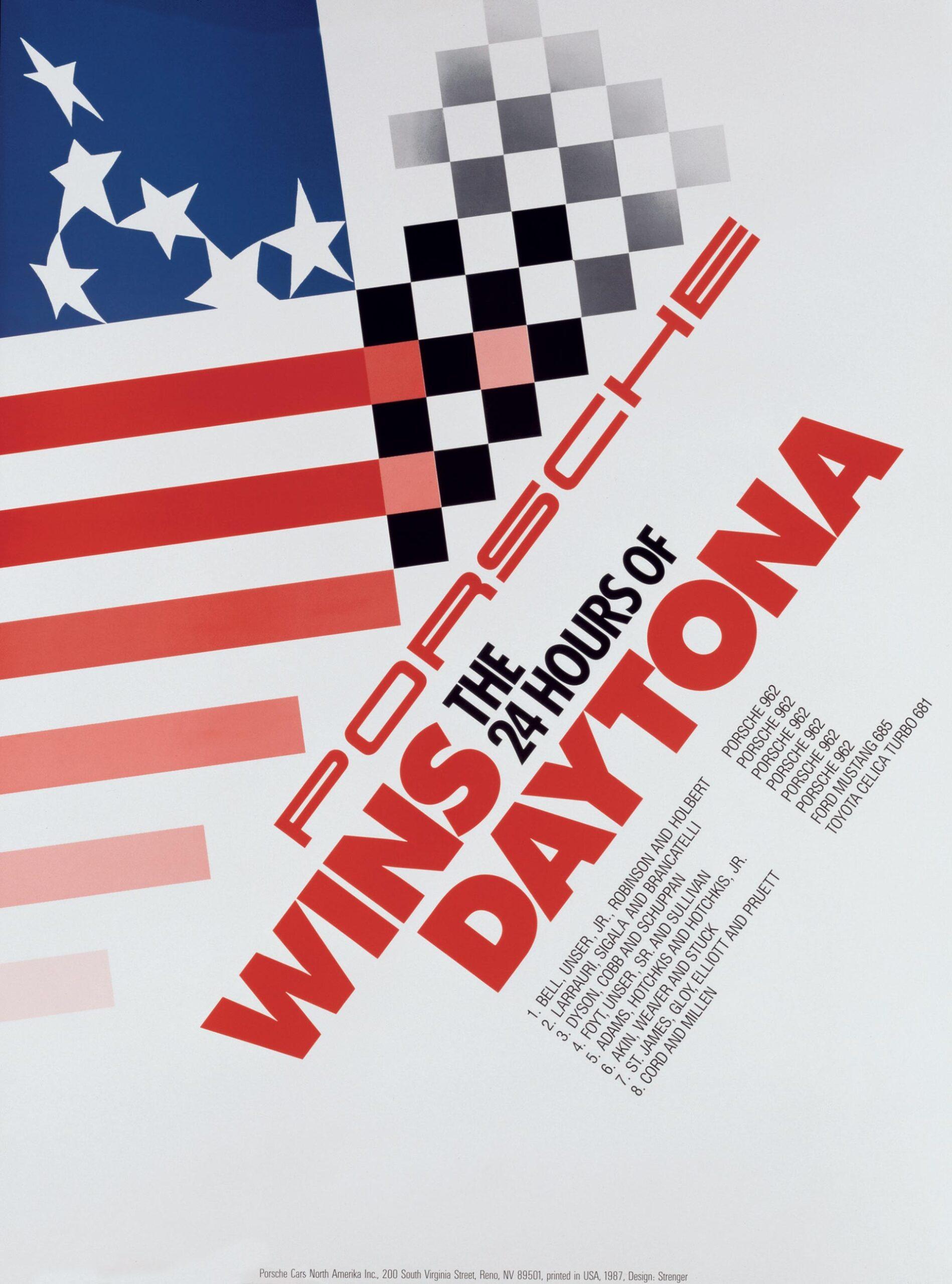 Plakat Porsche Daytona 24h