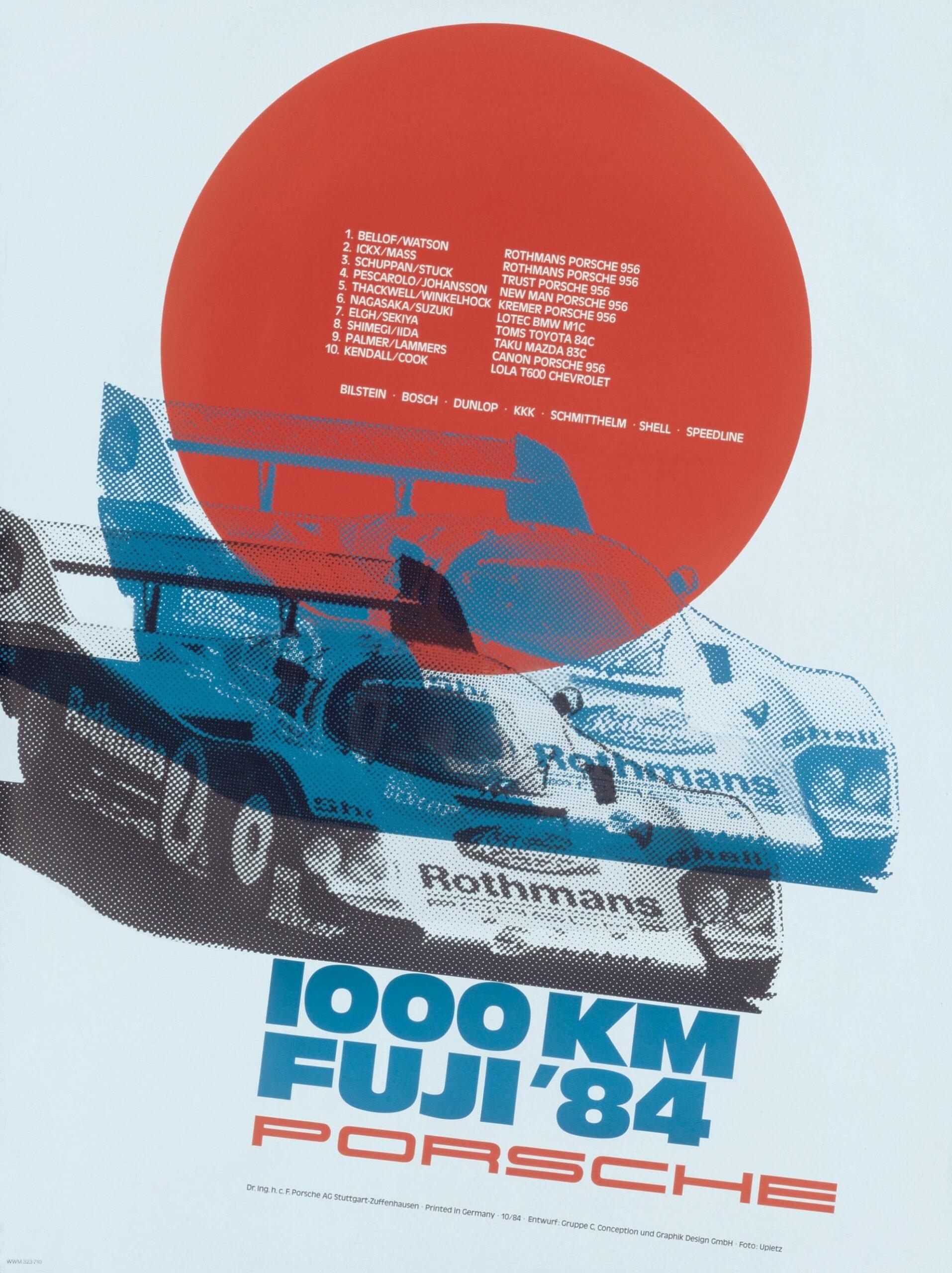 Plakat Porsche Fuji 1984