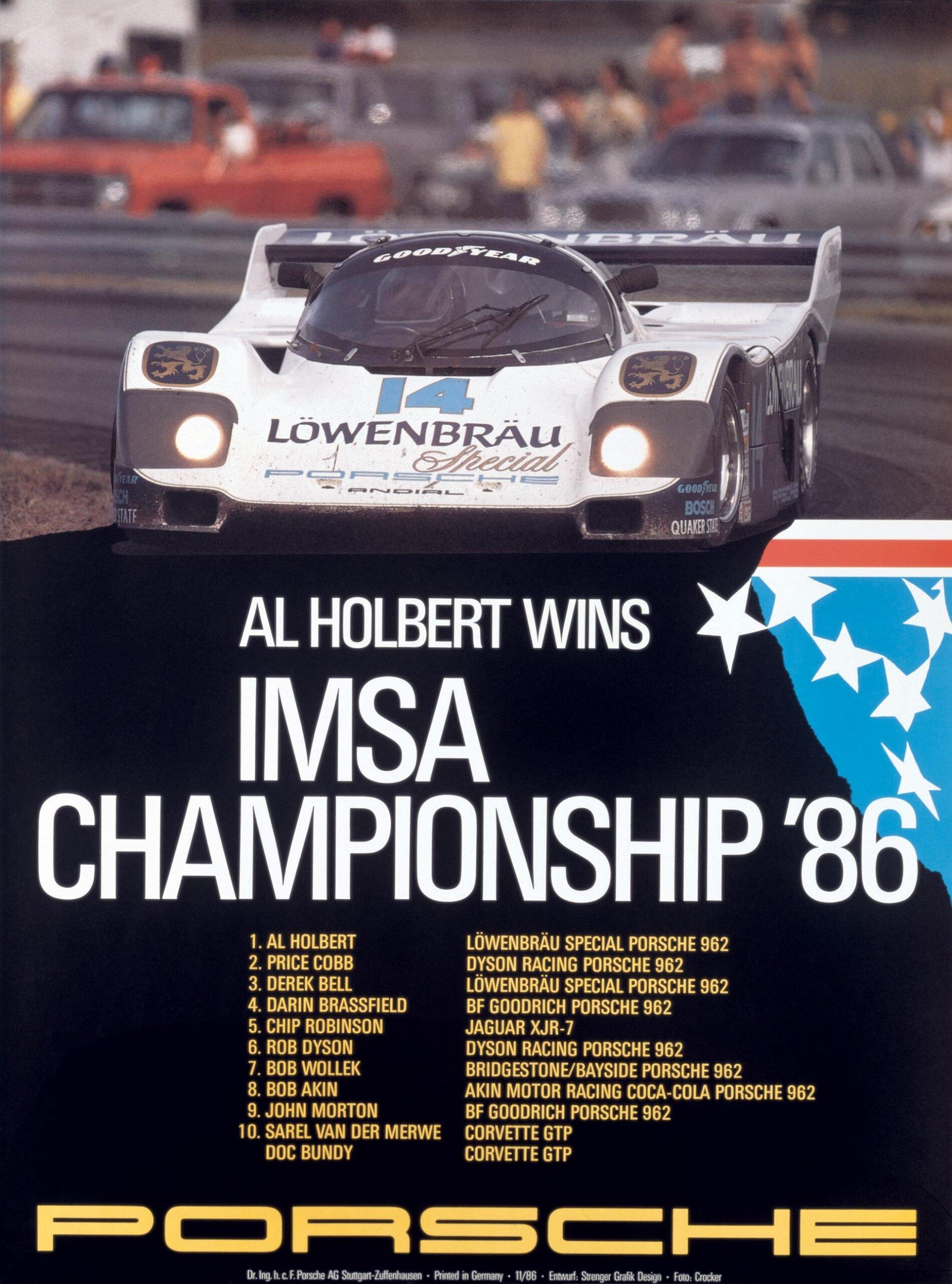 Plakat Porsche IMSA 1986