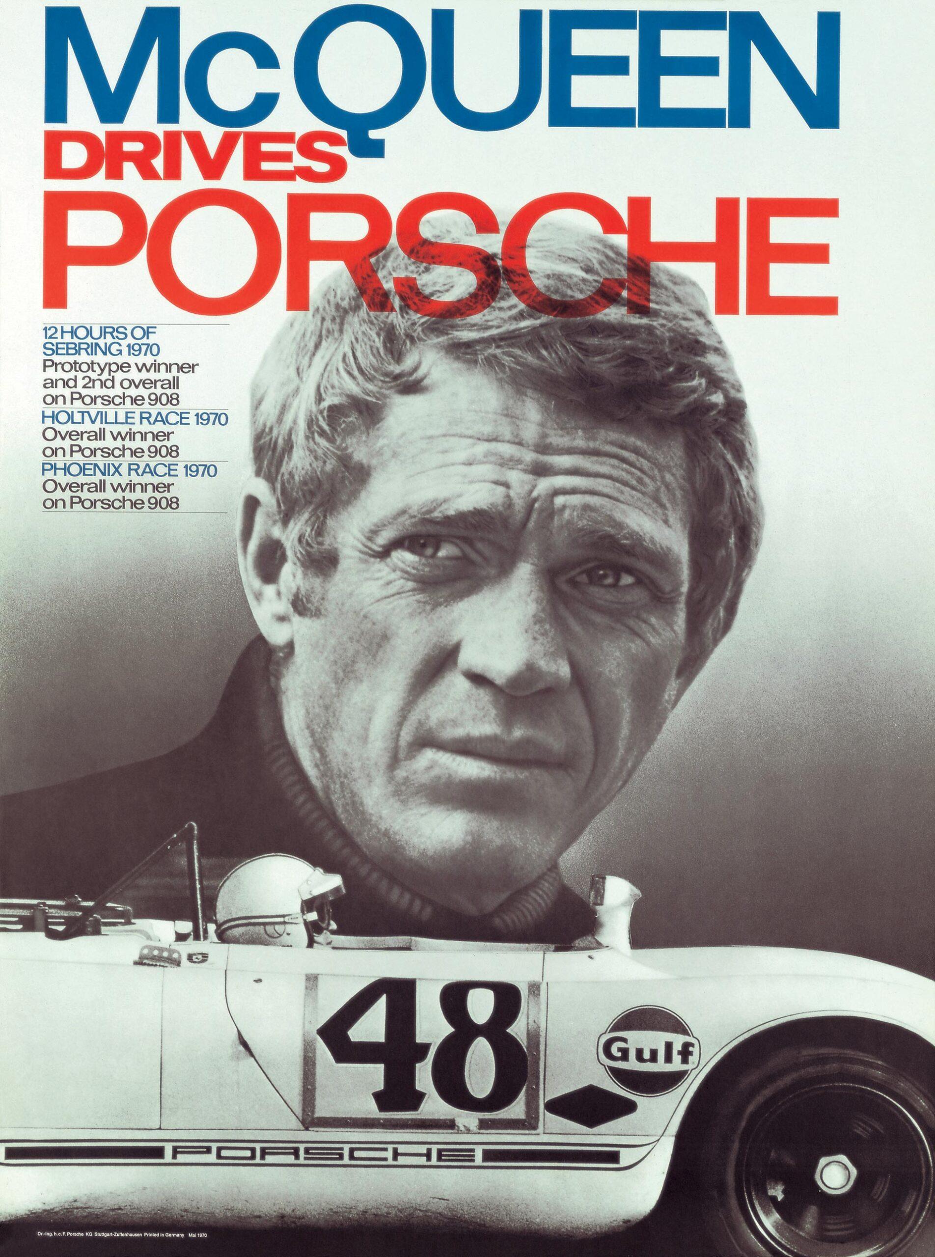 Plakat Porsche Sebring12h 1970