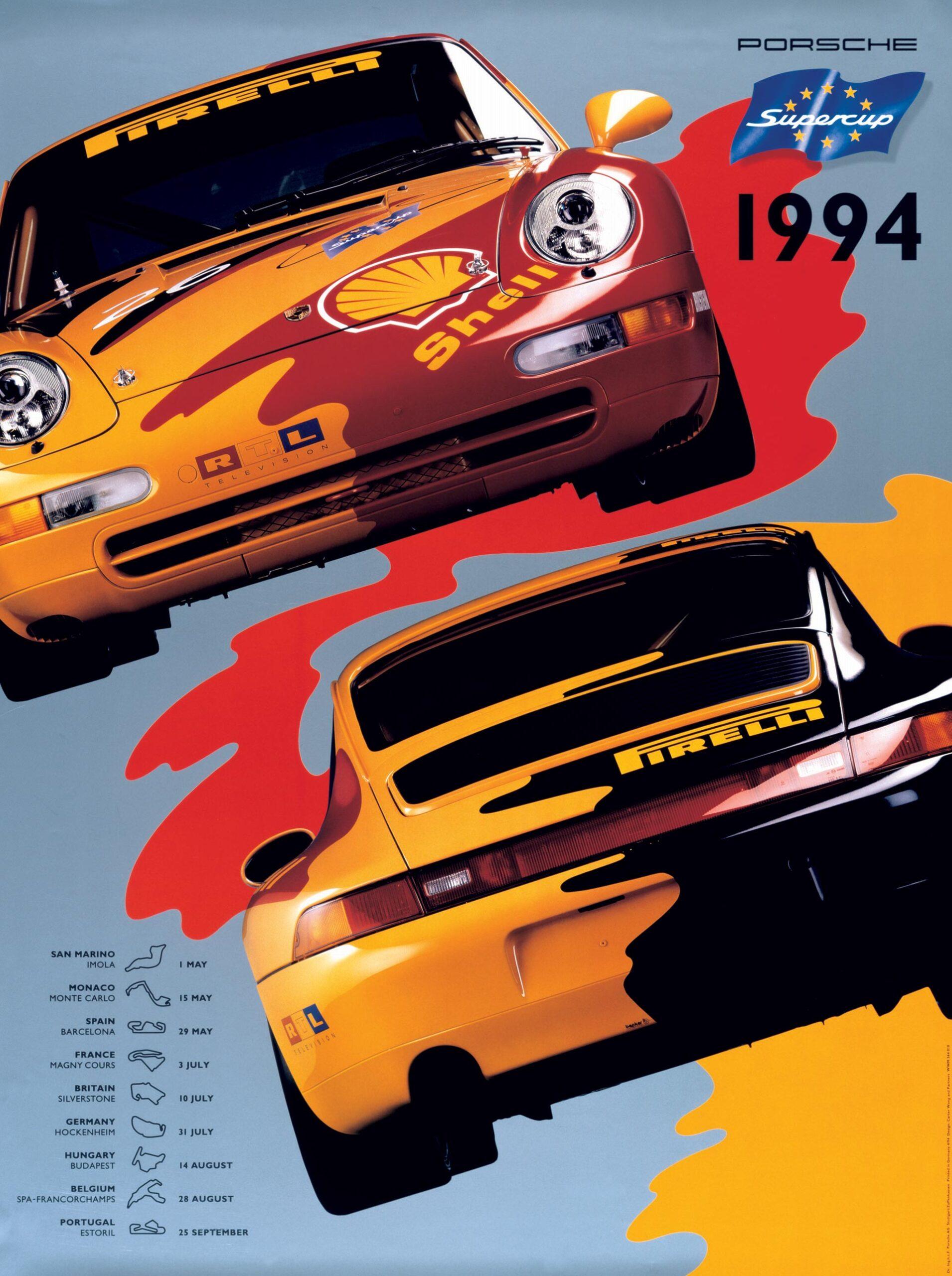Plakat Porsche Supercup 1994