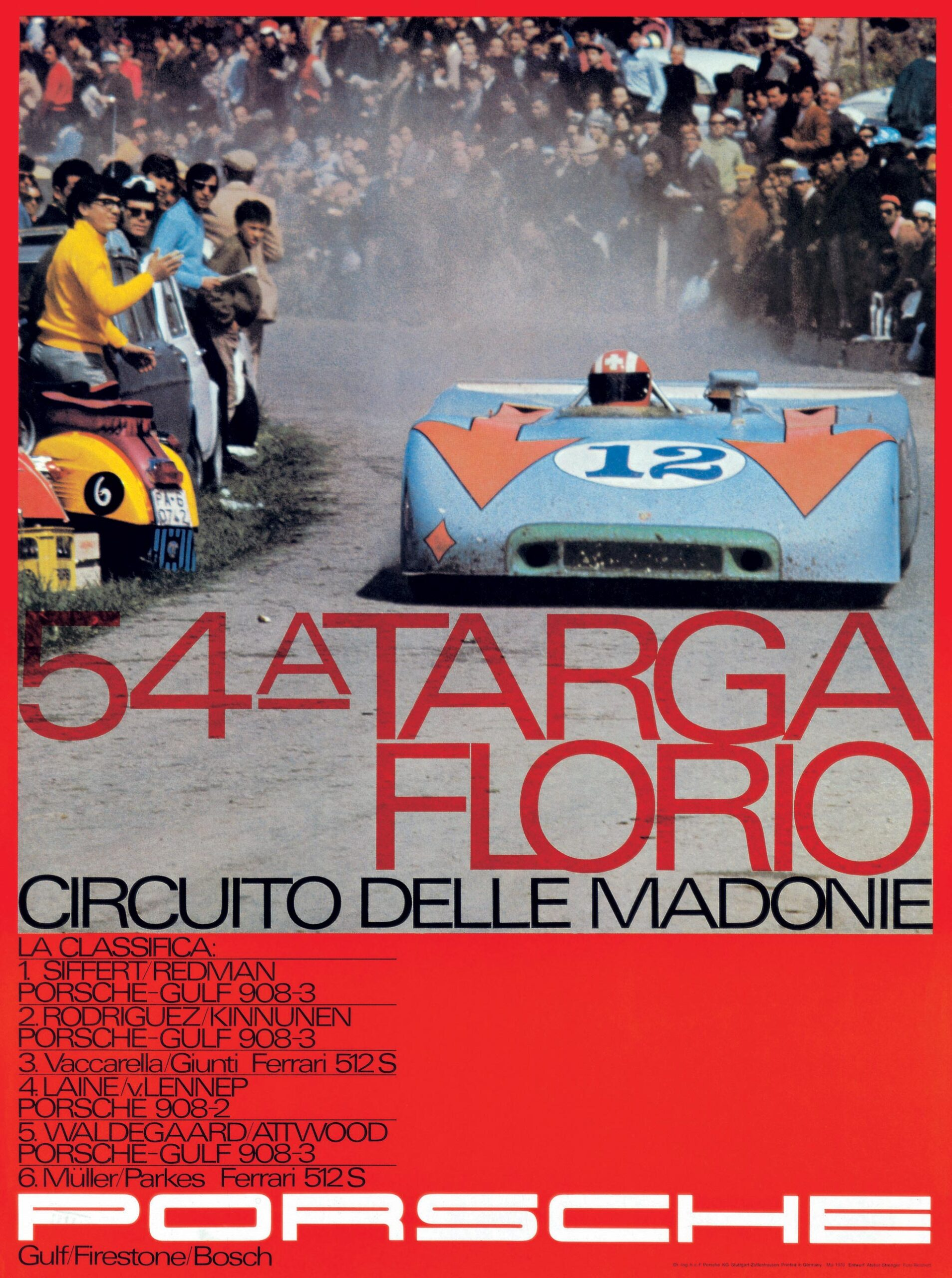 Plakat Porsche 54 Targa Florio 1970