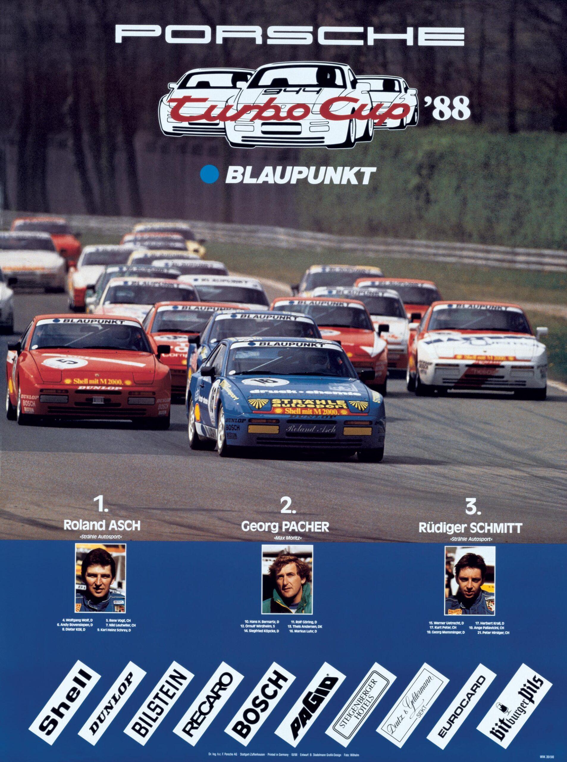 Plakat Porsche Turbo Cup 1988