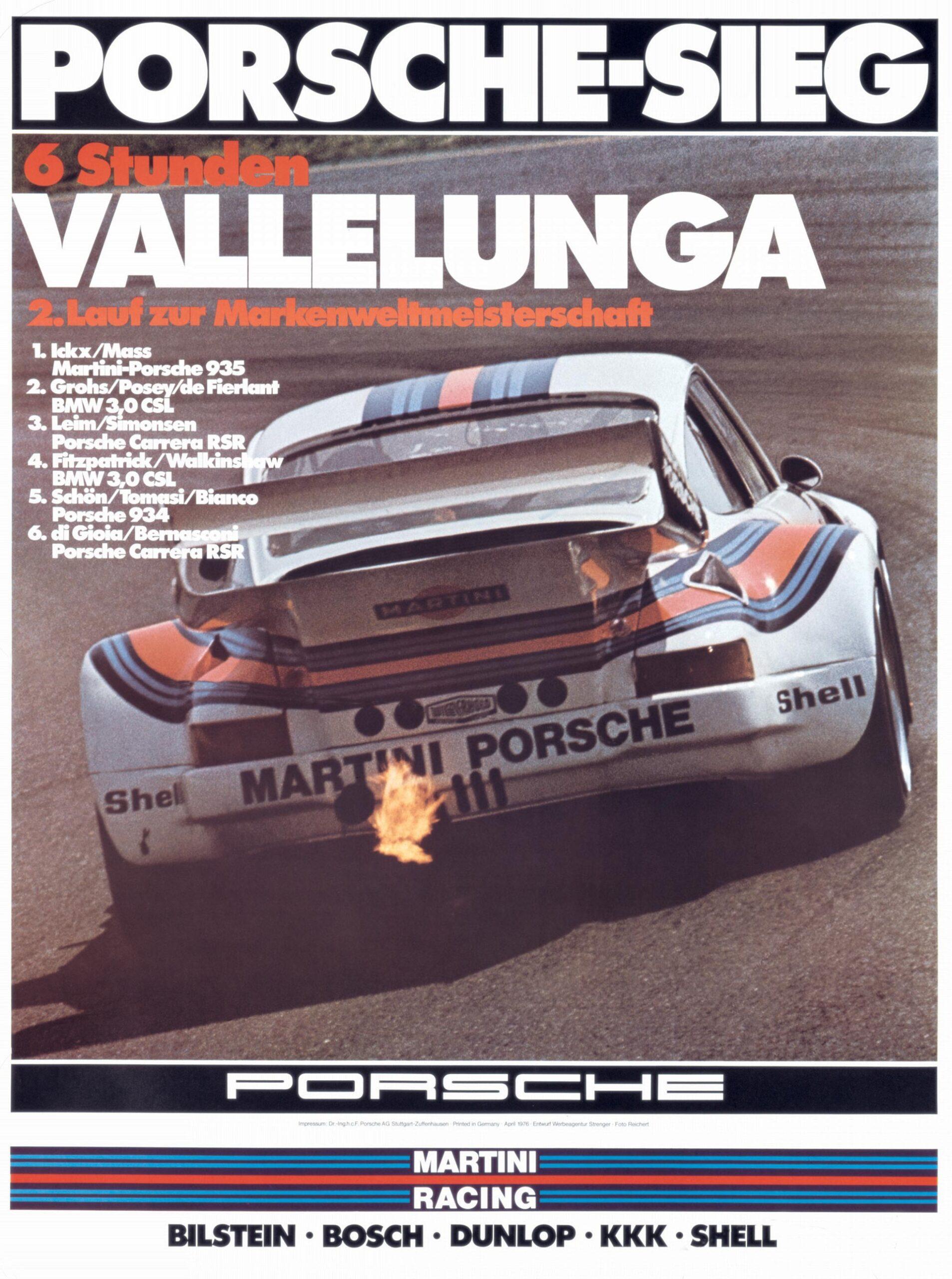 Plakat Porsche Vallelunga 6h 1976
