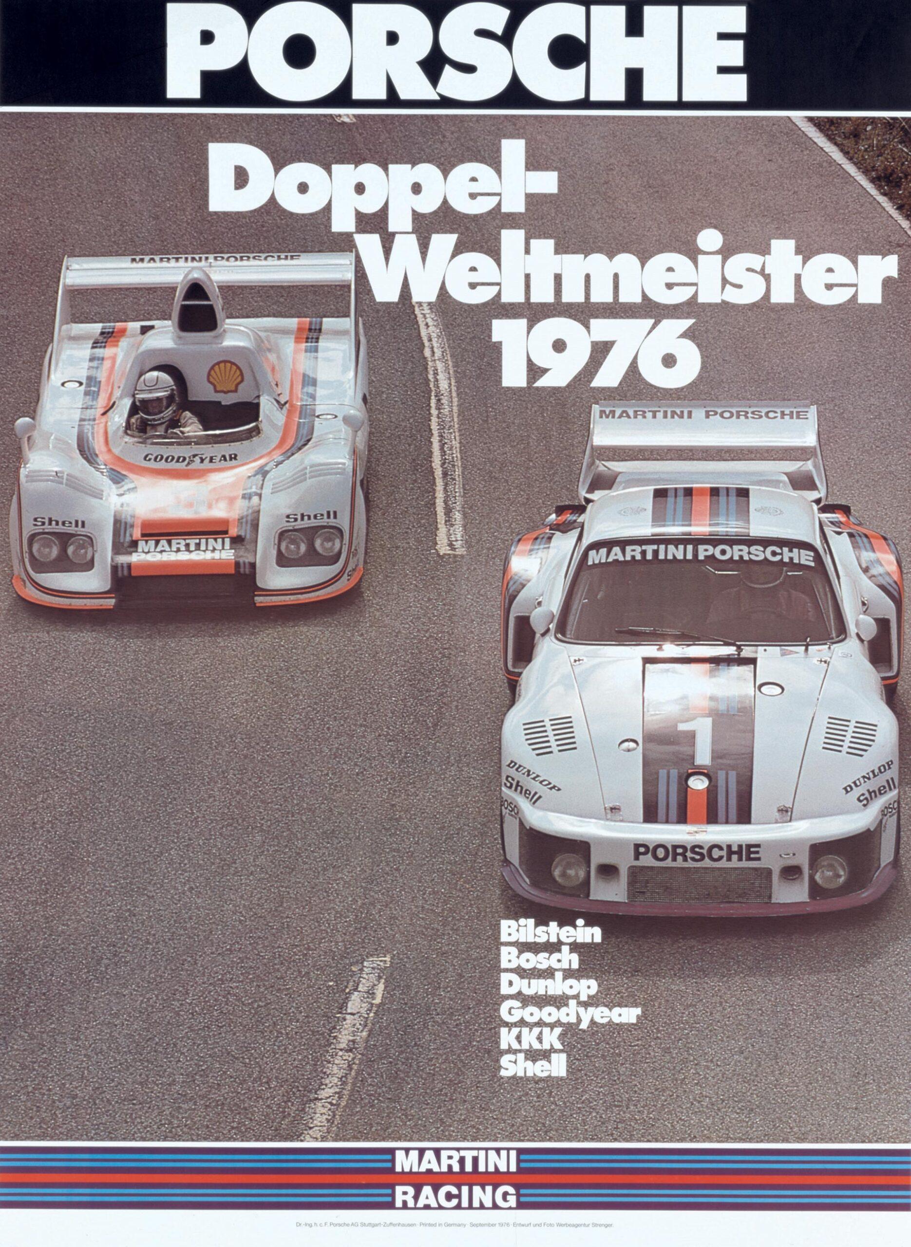 Plakat Porsche Doppel-Weltmeister 1976