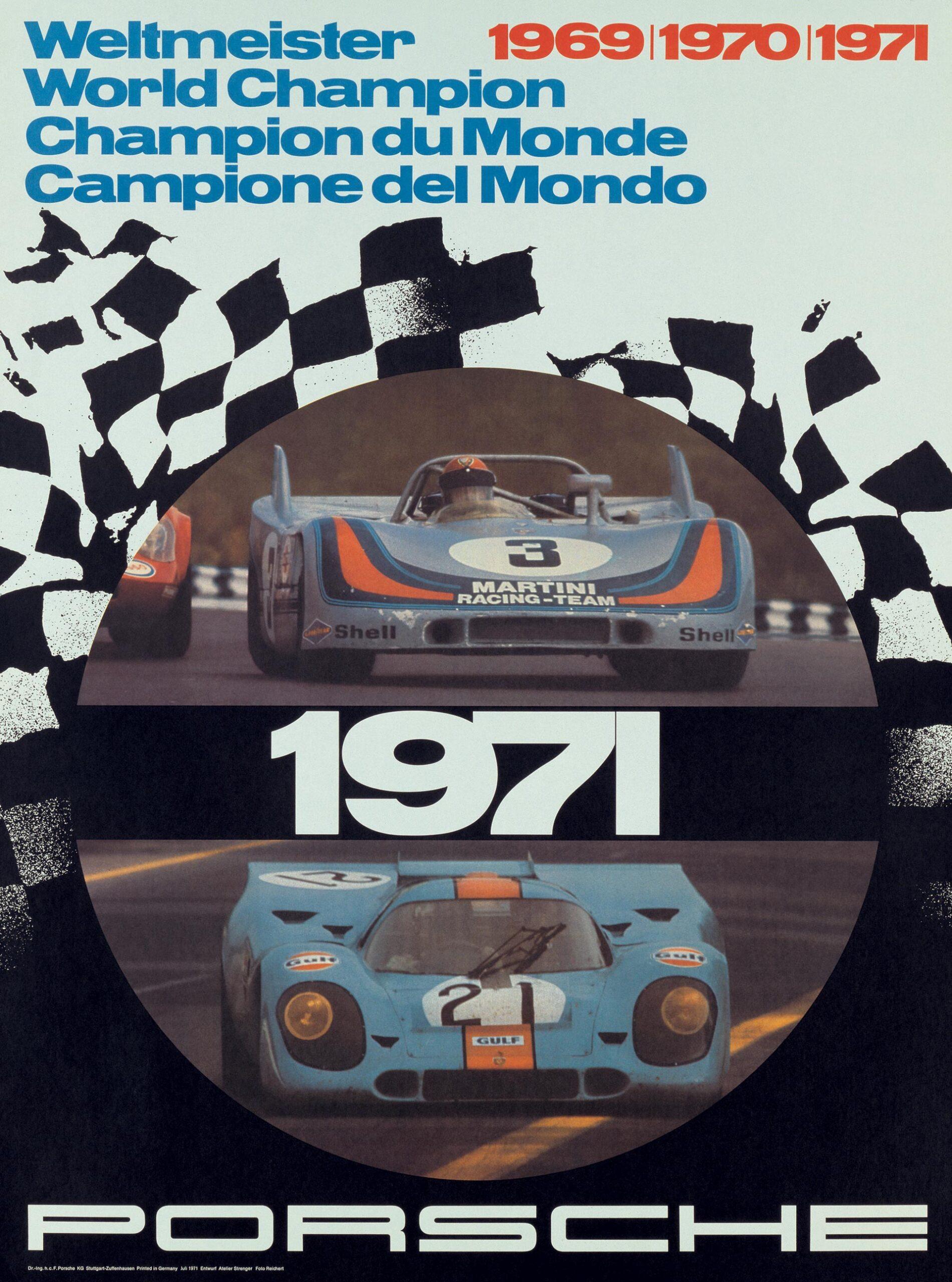 Plakat Porsche WorldChampion 1971