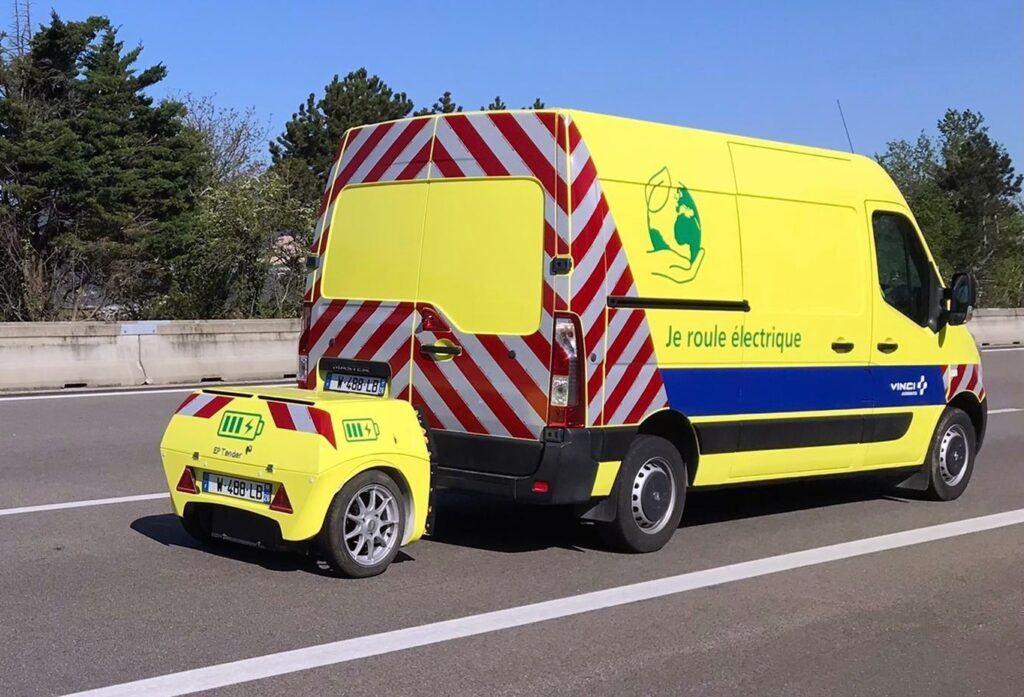 Renault Master ZE z przyczepą EP-Tender