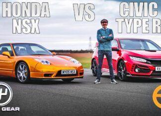 Honda NSX kontra nowy Civic Type R – test na torze