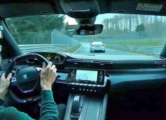 Peugeot 508 PSE w pościgu za BMW M2 na Nurburgringu